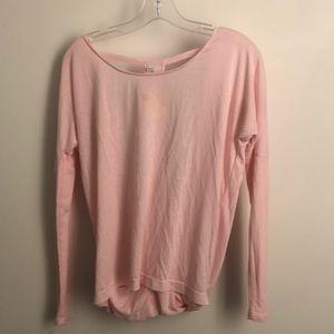 ALO Yoga Tops - Alo light pink backless long sleeve sz XS 71600